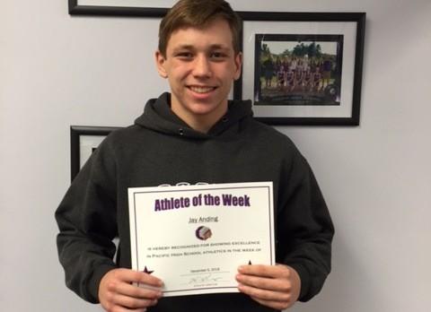 Athlete of the Week December 5th, 2016