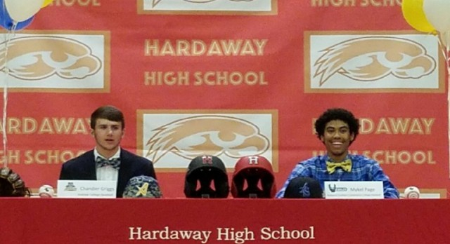 Griggs, Page Sign Letters of Intent