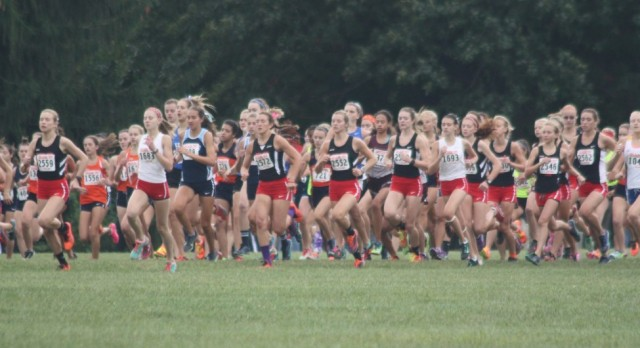 Yorkville High School Girls Varsity Cross Country finishes 1st place