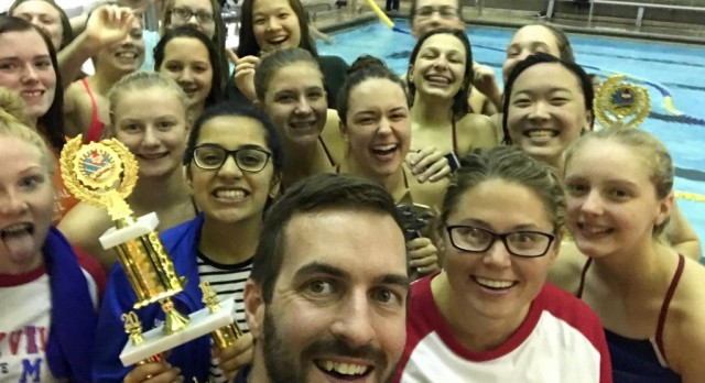 Girls Swim Team Win Conference