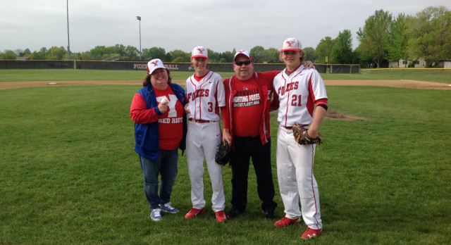 YHS Baseball Program Honors Retirees Ms. Thompson and Mr. Schmelzle
