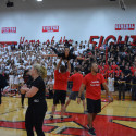 9/29/17 – Varsity Poms  – Pep Assembly Student-Staff Dance