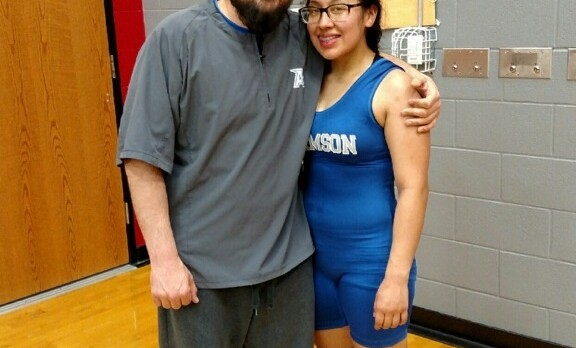 STATE BOUND:  Lady Leopard wrestler finished 4th in Region to advance
