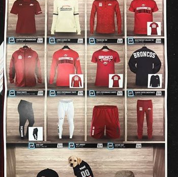 Bellevue Bronco Football Fan Gear Now on Sale