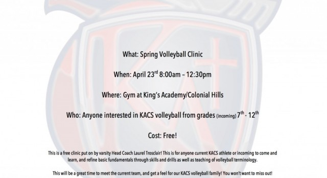 KACS Spring Volleyball Camp
