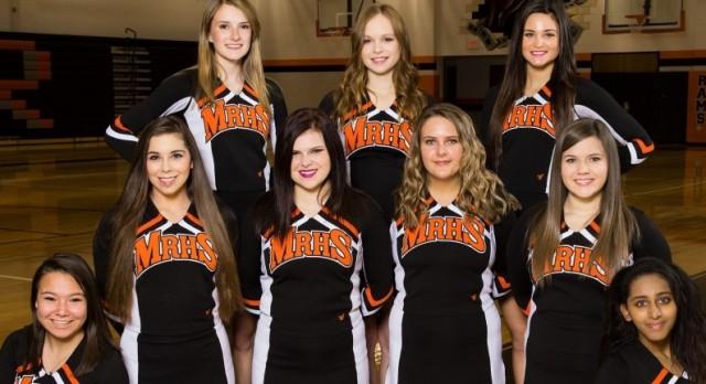 2015-16 Mineral Ridge Basketball Varsity Cheerleaders