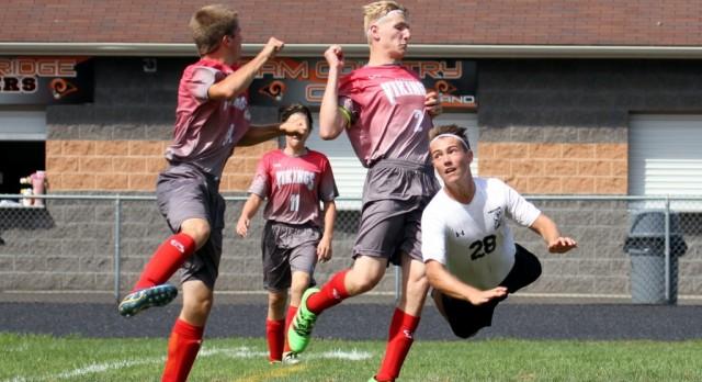 Mineral Ridge High School Boys Varsity Soccer falls to Labrae High School 5-4