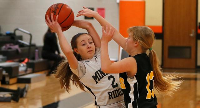 Mineral Ridge Girls 8th Grade Basketball falls to Lisbon High School 33-29