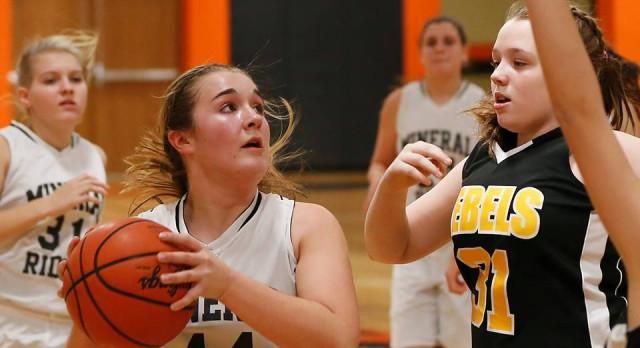 Mineral Ridge Girls 8th Grade Basketball beat Southern Local 35-22