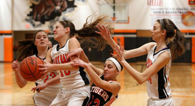 Mineral Ridge High School Girls Varsity Basketball beat Springfield Local High School 56-52 on Senior Night