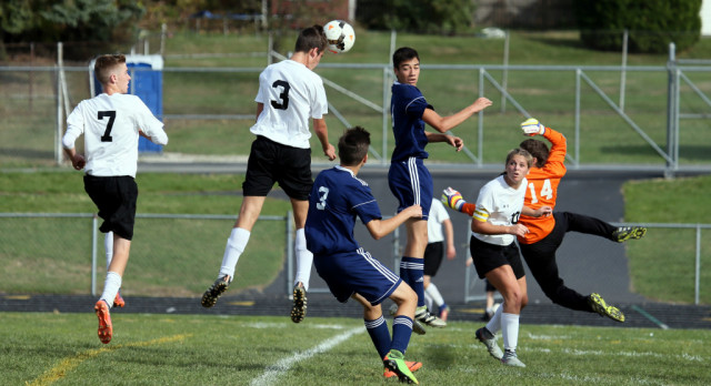 Heading in the Right Direction:  Mineral Ridge High School Boys Varsity Soccer beat John F Kennedy High School 5-1 in the OHSAA Sectional Finals