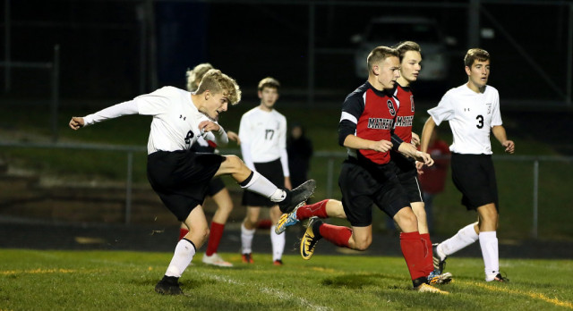 Mineral Ridge High School Boys Varsity Soccer beat Mathews High School 11-3, Next Warren JFK on Saturday @ 3 PM
