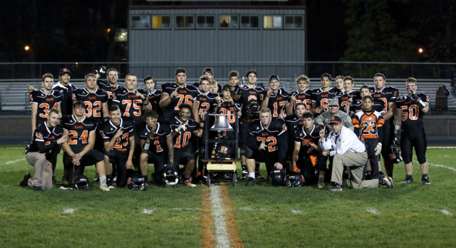 Rams Get Win #5:  Mineral Ridge High School Varsity Football beat Jackson-Milton Local High School 26-21
