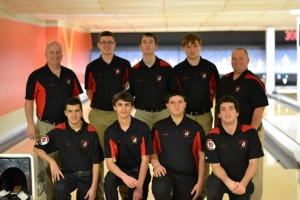 NH Bowling Team 2016-2017 Back Row: Coach Greg, Josh Welka, Andrew Wehner, Shane McNickle, Coach Whitey Front Row: Matt Ettore, Don Albert, Bard Hopkins, Joe Andrews