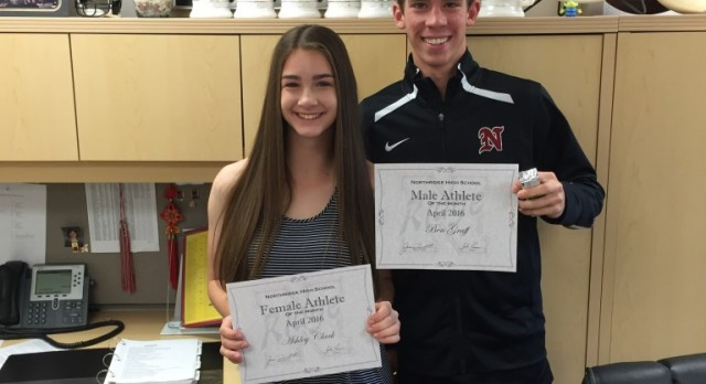 Athletes of the Month April