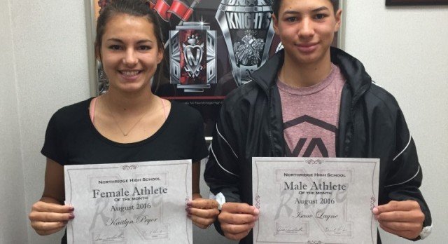 Athletes of the Month for August