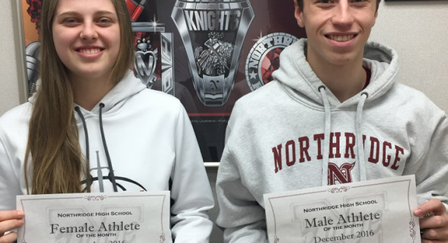 December Athletes of the Month