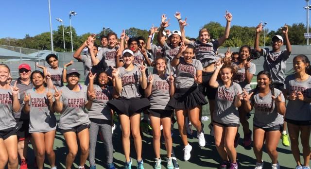 Tennis team captures area title