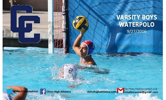Chino High School Boys Varsity Water Polo beat West Covina High School 25-7