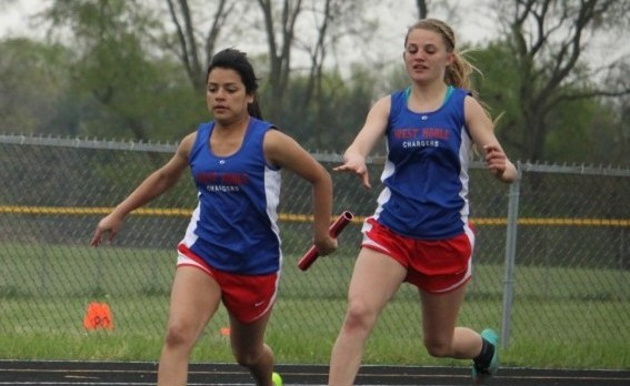Fairfield Tops West Noble in Girls Track