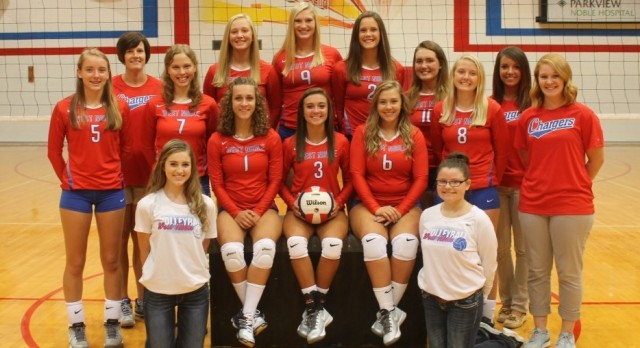 Chargers Top Eagles in Varsity Volleyball 3-0