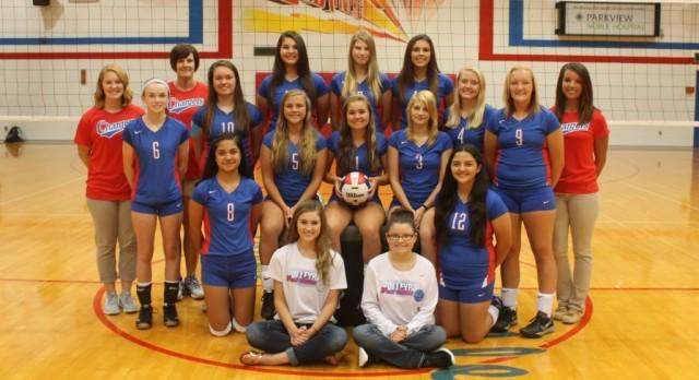 West Noble High School Girls Junior Varsity Volleyball beat Fremont High School 2-0