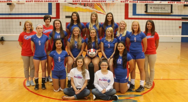 West Noble High School Girls Junior Varsity Volleyball beat Eastside High School 2-0