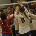 Varsity Volleyball Pics- West Noble vs. Fairfield Sectional Game