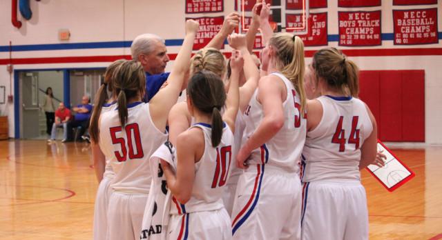 West Noble High School Girls Varsity Basketball beat Eastside High School 57-51
