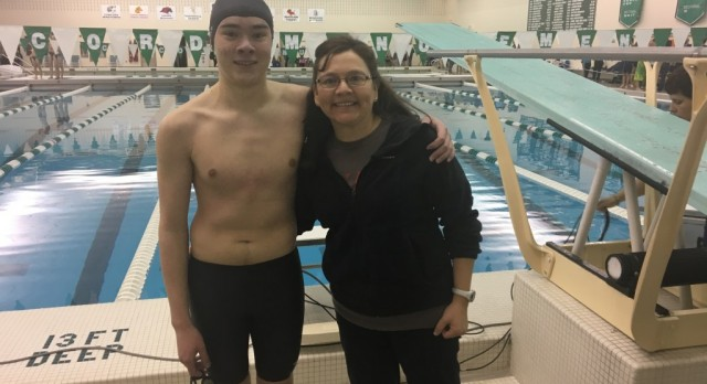 Andrew Tom Competes at Swimming Sectionals