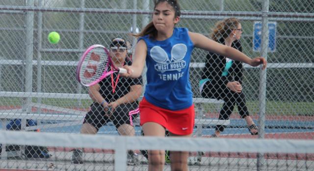 West Noble High School Girls Varsity Tennis beat Prairie Heights High School 4-1