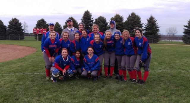 West Noble High School Varsity Softball beat Prairie Heights High School 5-2