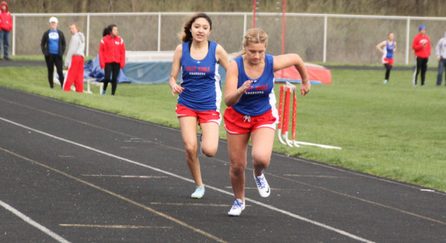 Lady Chargers Edge Cougars in NECC Track
