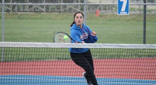 West Noble High School Girls Varsity Tennis beat Churubusco High School 5-0