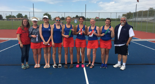 West Noble High School Girls Varsity Tennis finishes 6th place