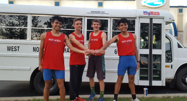Charger Boys Compete in Regional Track