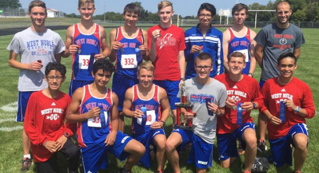 West Noble Boys Cross Country Wins Panther Invite