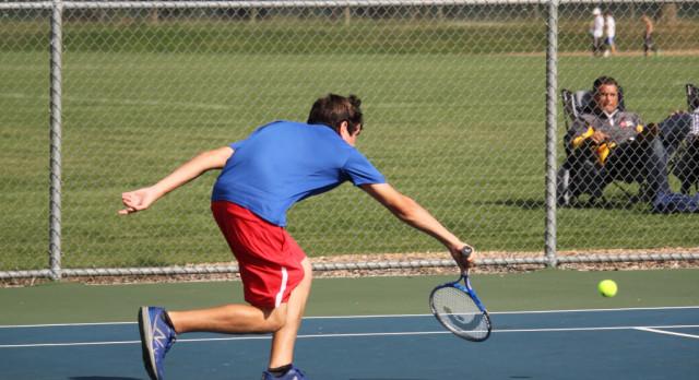 West Noble High School Boys Varsity Tennis beat Prairie Heights High School 3-2