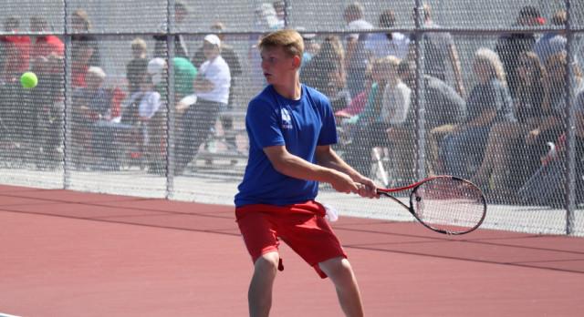 West Noble High School Boys Varsity Tennis beat Churubusco High School 4-1