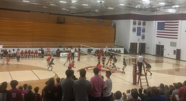 West Noble High School Girls Varsity Volleyball beat Central Noble High School 3-0