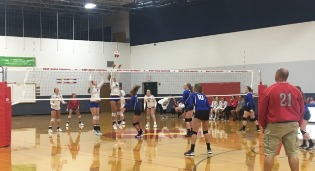 West Noble High School Girls Varsity Volleyball beat vs Hamilton H.S. 3-0