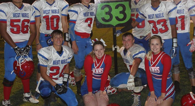 West Noble Tops Fairfield in Football 7-0