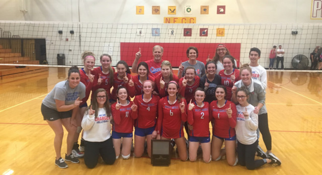 Chargers Win NECC Volleyball Tourney
