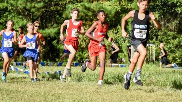 Providence School Boys Junior Varsity Cross Country finishes 1st place