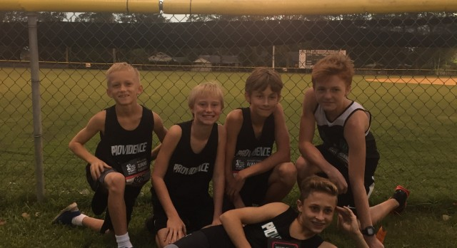 Providence School Boys Junior Varsity Cross Country finishes 2nd place