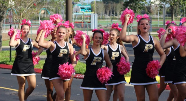 Providence Stallions Cheer march in Homecoming Parade