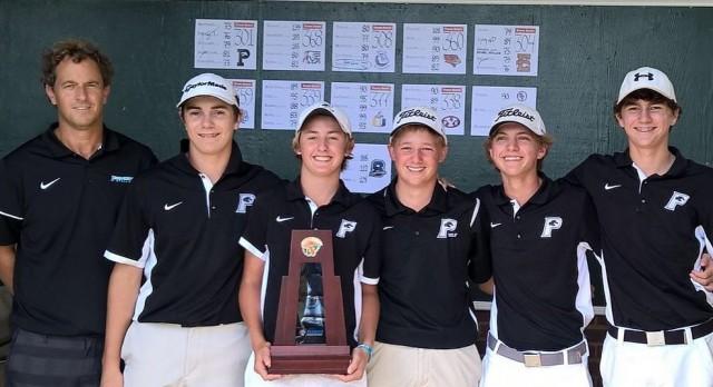 Providence School Boys Varsity Golf finishes 1st place