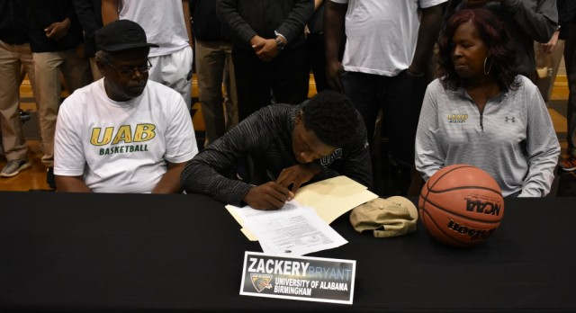 Zackery Bryant Signs with UAB
