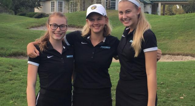 Girls Golf wins Match against University Christian