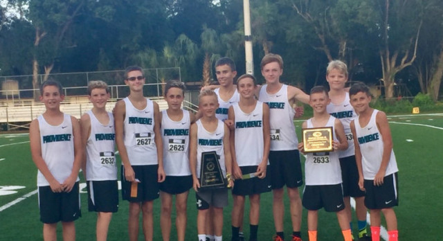 Middle School Boys Cross Country Win IMSC! Team Advances to State Meet in Lakeland